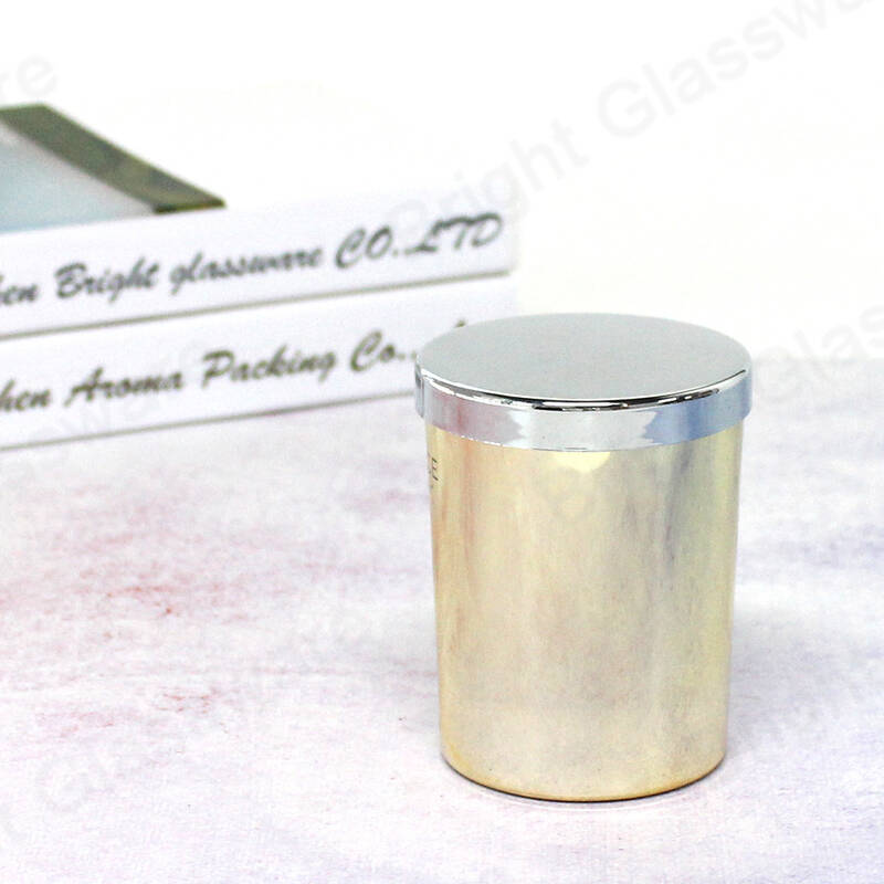 China supplier wholesale 75mm 76mm candle holder glass jars with silver metal lid