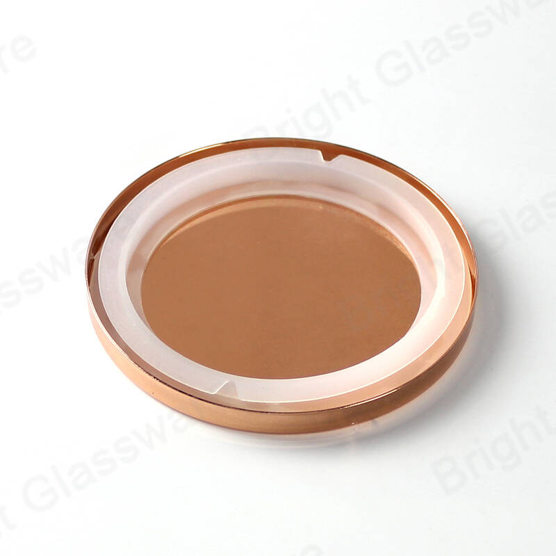 China factory candle lids rose gold color for glass candle holder lid candle jar lid
