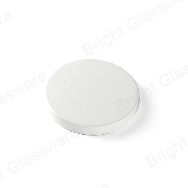 sealed metal lid 80mm candle lid white with silicone for candle jars for candle holders