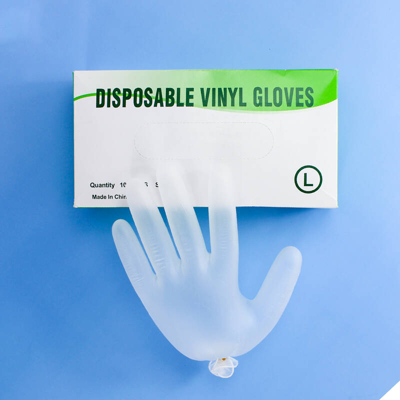 In stock powder free blue/white PVC/nitrile/latex/rubber examine safety protective disposable vinyl gloves