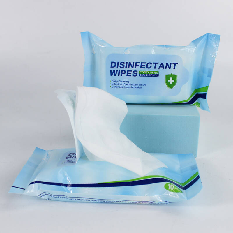 Wholesale Anti-Bacterial Disposable Sanitizer Cleaning Antibacterial Disinfectant 75% Alcohol Wet Wipes