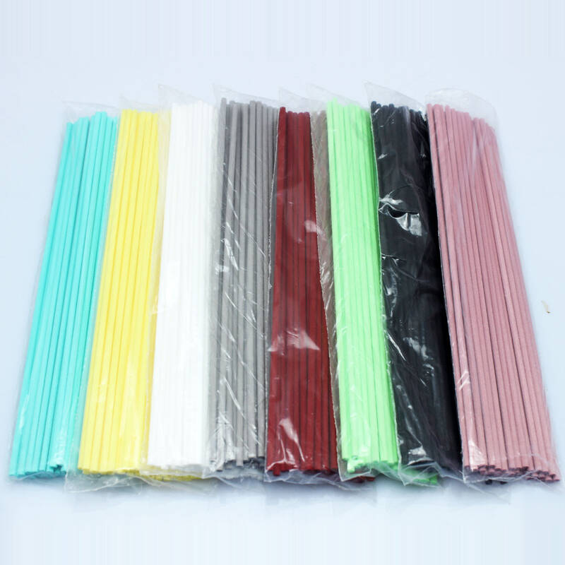 4mm*25cm colorful reed diffuser fiber sticks/synthetic aroma oil absorbing wicks