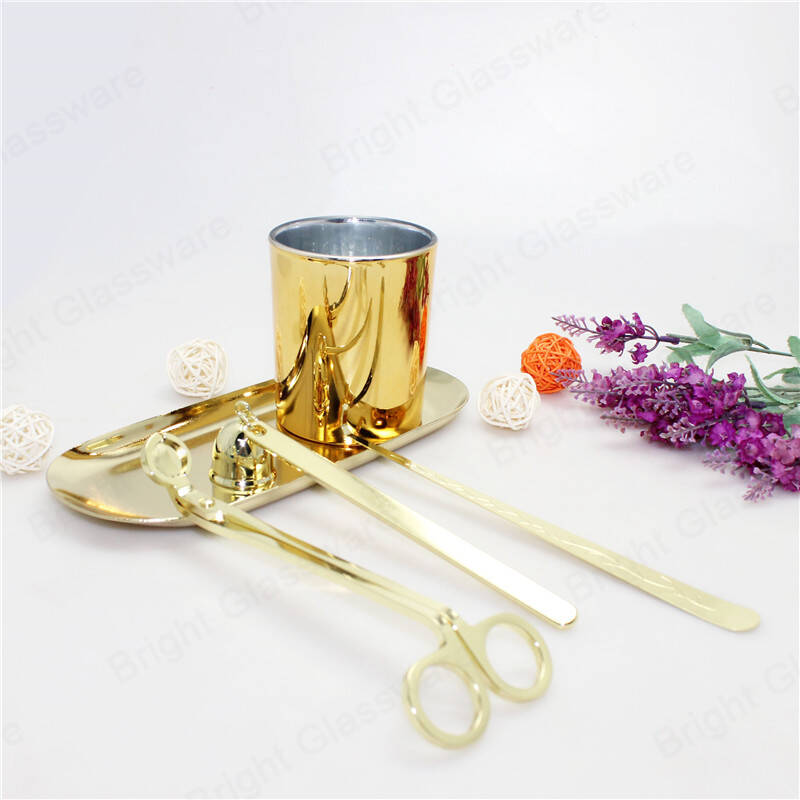 stainless steel candle repair tool kit set brass gold wick trimmer candle dipper snuffer