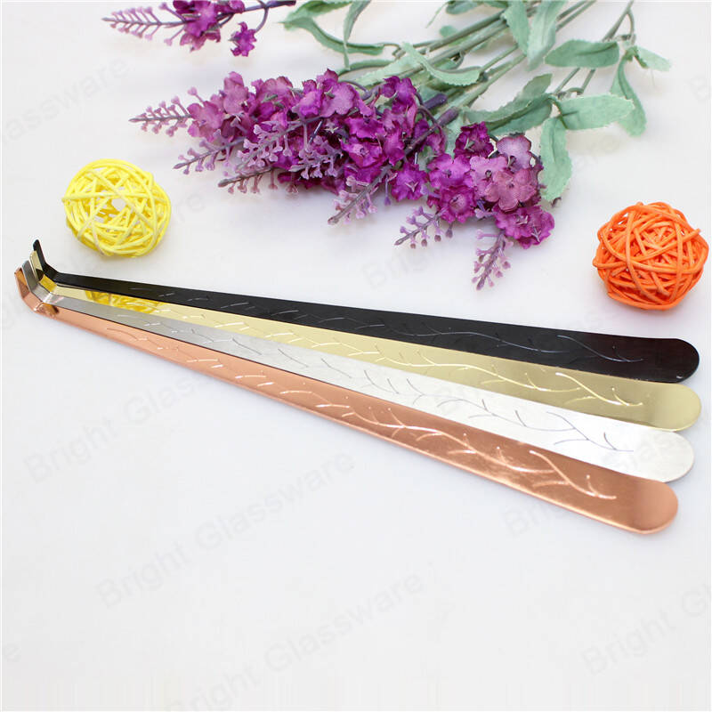 Custom color rose gold silver black stainless steel candle wick dipper candle accessories