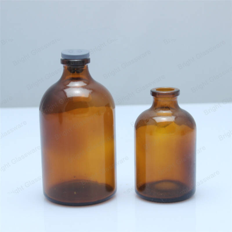 laboratory glass potion chemical reagent bottle amber 500ml with narrow mouth