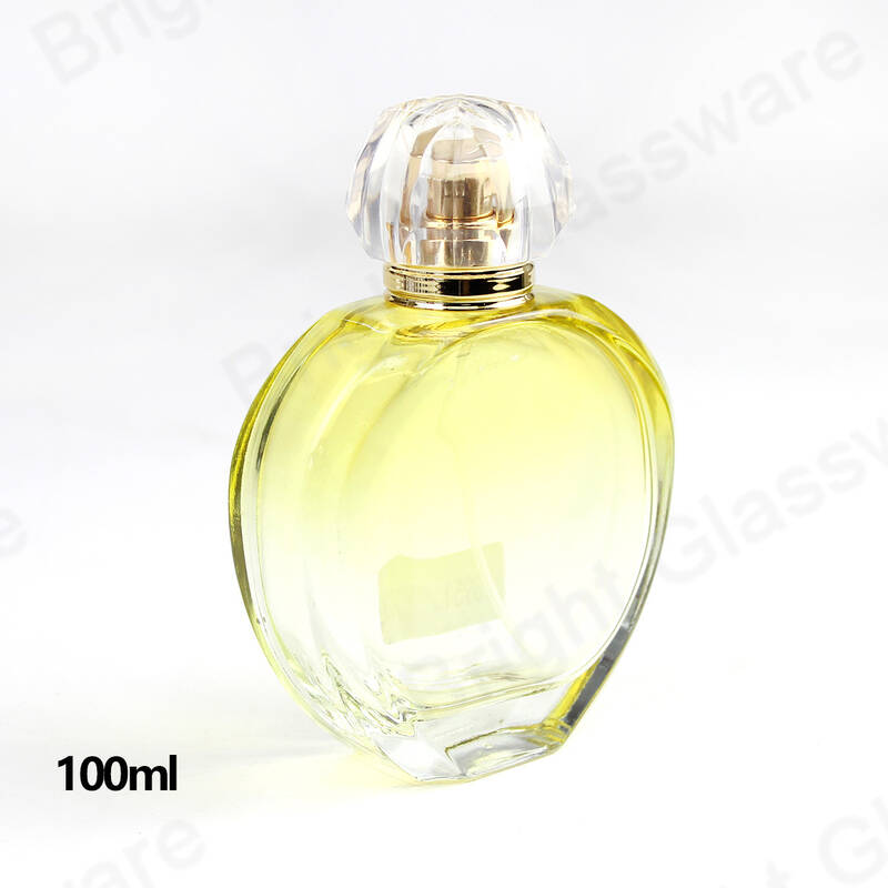 vintage travel refillable round glass perfume bottles with atomizer spray