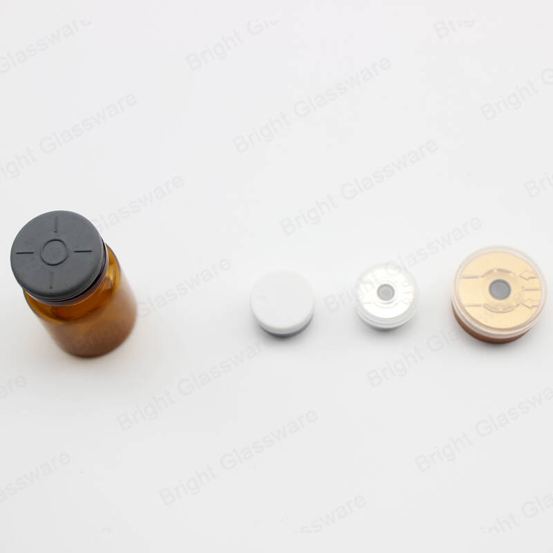 mini amber clear medecine bottles glass pharmaceutical glass vials with rubber stopper
