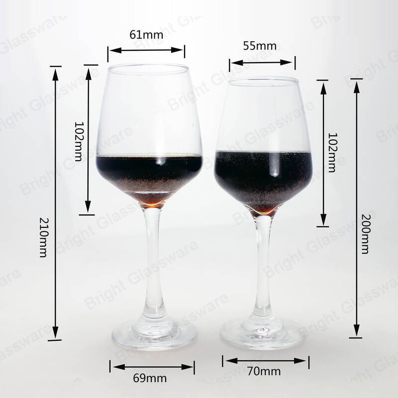 high quality modern goblet glass red wine glasses with long stem