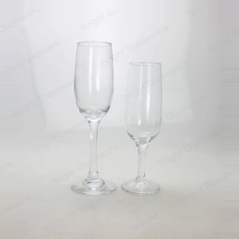 wholesale cheap custom logo transparent flute champagne glasses wedding gift home table crafts decorations