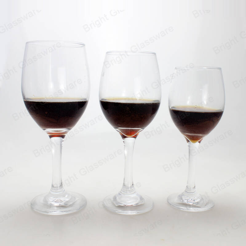 lead free crystal white and red wine glasses with long stem for sale