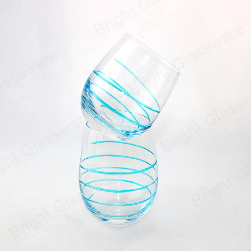 clear blown votive tea light candle jar egg shaped glass candle holder