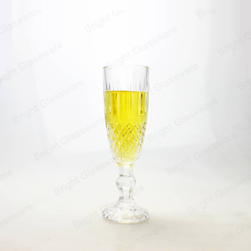 wholesale goblet wine glasses wedding favors diamond glass champagne flutes