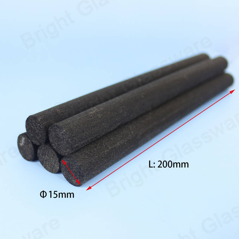 15mm thick black fiber reed sticks for air fresher oil fragrance reed diffuser bottle