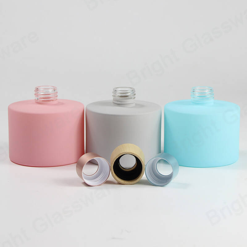 home room fragrance essential oil perfume round bottle reed diffuser set with gift packing box