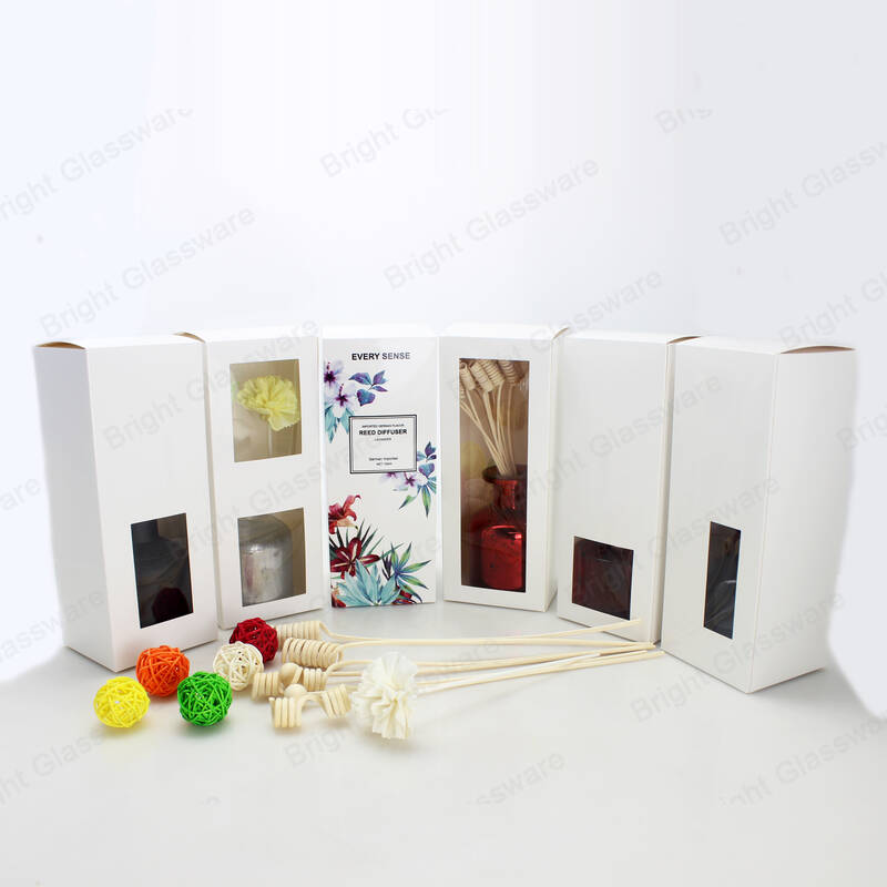 custom perfume aromatherapy gift box glass reed diffuser packaging boxes