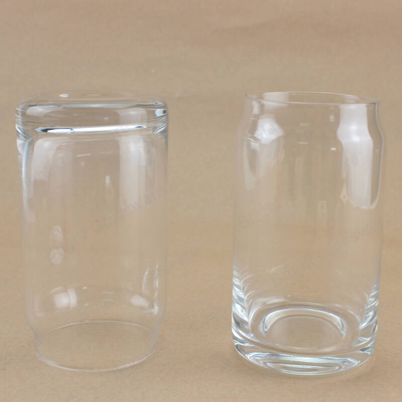 wholesale 430ml juice water stemless clear libbey beer can glass cups mug for home or bar