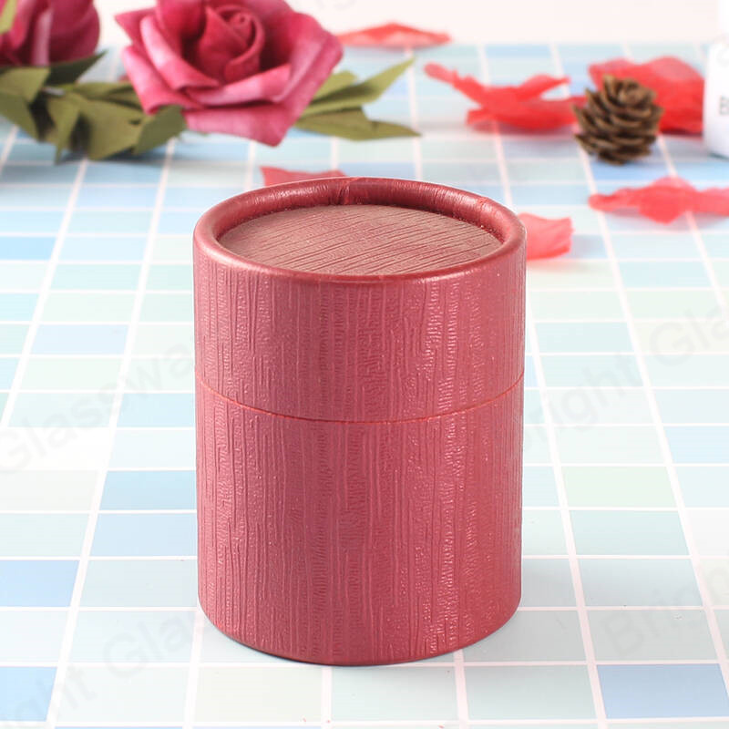 wholesale custom luxury fashionable eco-friendly durable round red paper cylinder box