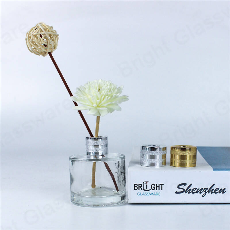 air fresheners accessories 20mm 28/410 24/410 shiny rose gold colored aluminum reed diffuser cap