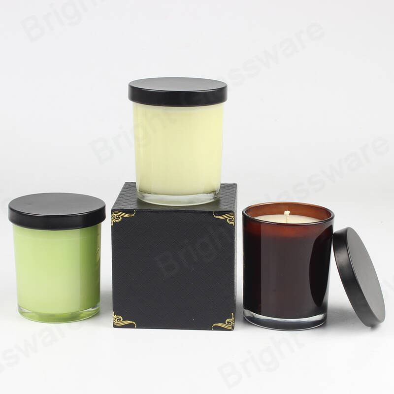 custom fragrance soy wax scented candle velas with metal lid