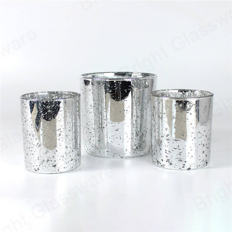 custom color plating speckled rose gold/silver mercury votive candle holders