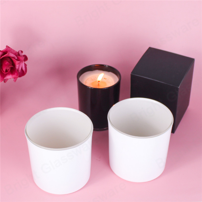 luxury top sale 14oz matte white candle vessel for soy wax candle making in bulk