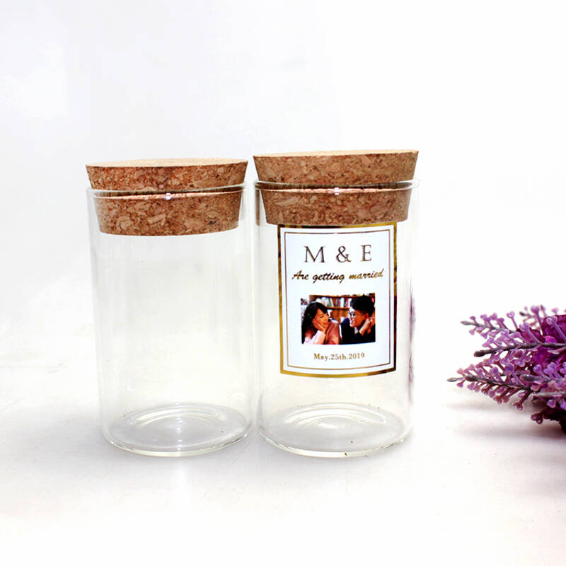glass canister jar food storage borosilicate glass jar with cork lid wood stopper