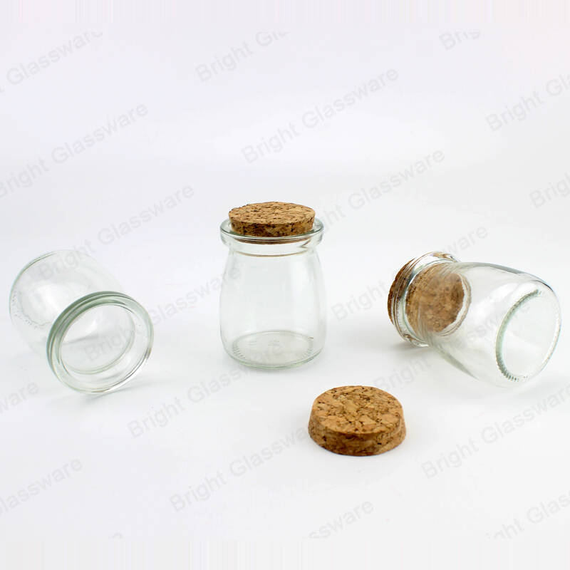food grade yogurt storage containers clear glass food jars with cork lids