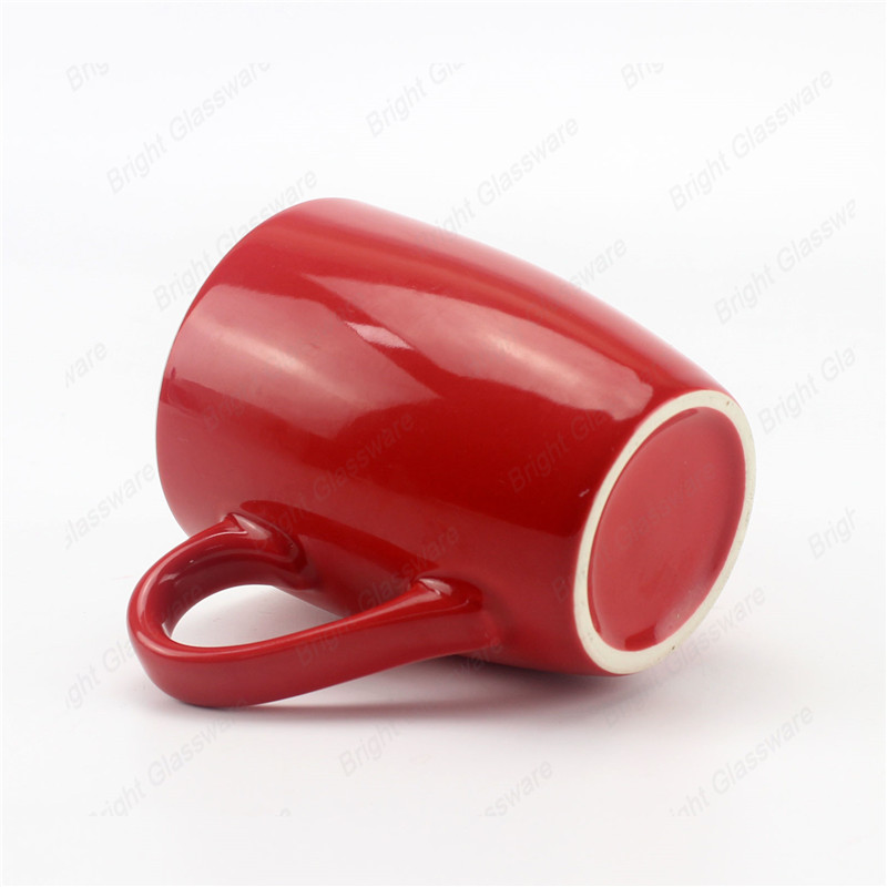 factory supply wholesale coffee cup red ceramic mug with handle