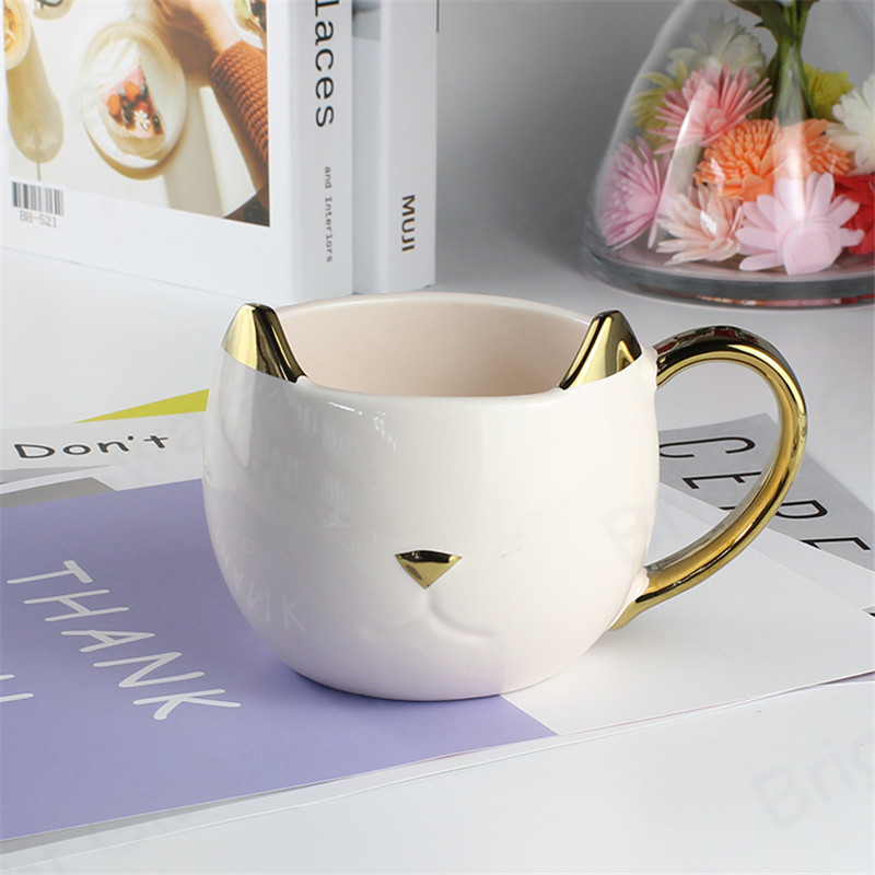 drinkware 3D animal cartoon mark cup creative cute ceramic mug cat for birthday gift