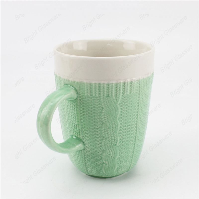 elegant vintage ceramic mugs porcelain coffee tea mug with handle for sale