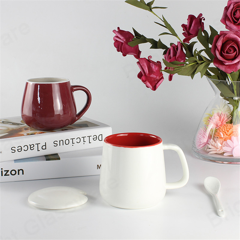 hot selling Nordic style 200ml red porcelain espresso coffee cup ceramic tea mug