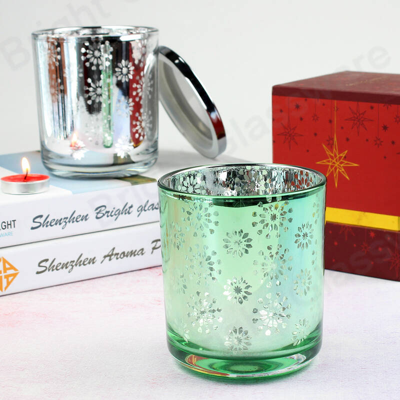 diy unique glass candle holder christmas candle jars for home table decorations