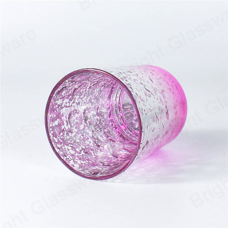 votive tealight candle jar pink mercury glass candle holders for wedding/party decor