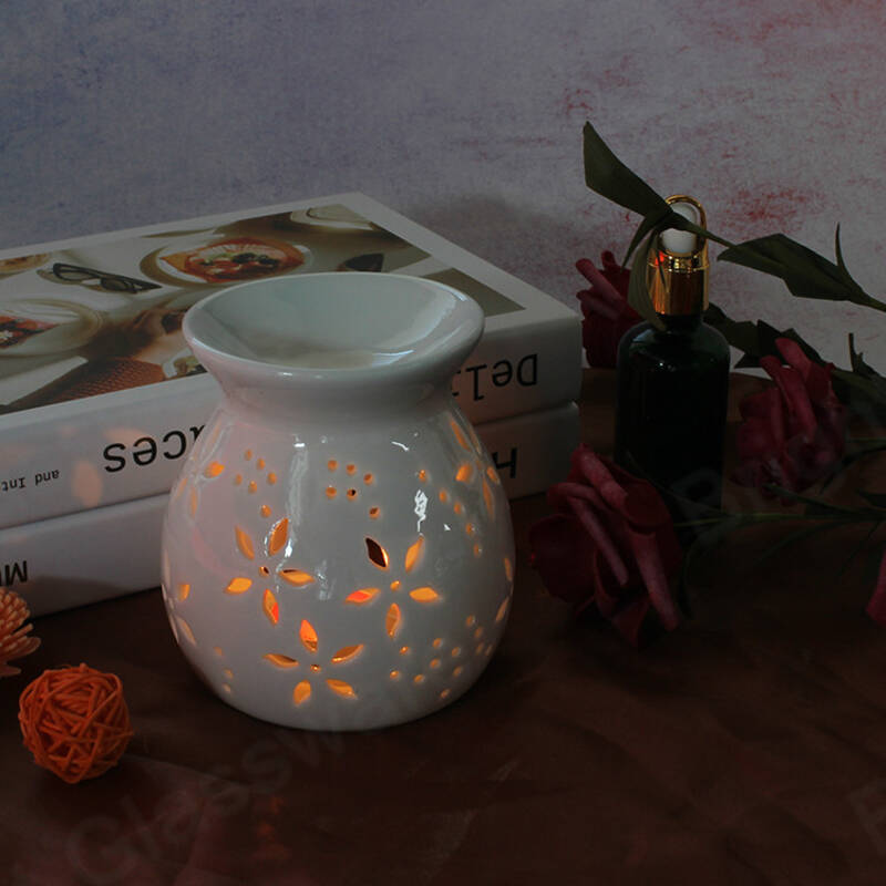 wholesale ceramic essential oil burner candle jars candle warmer for home decor