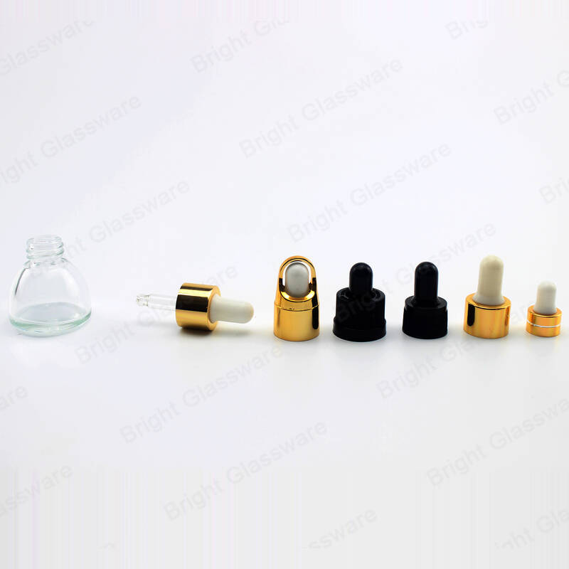 15ml 20ml 30ml cone shape glass bottle essential oil dropper glass bottles essence in skin care serum