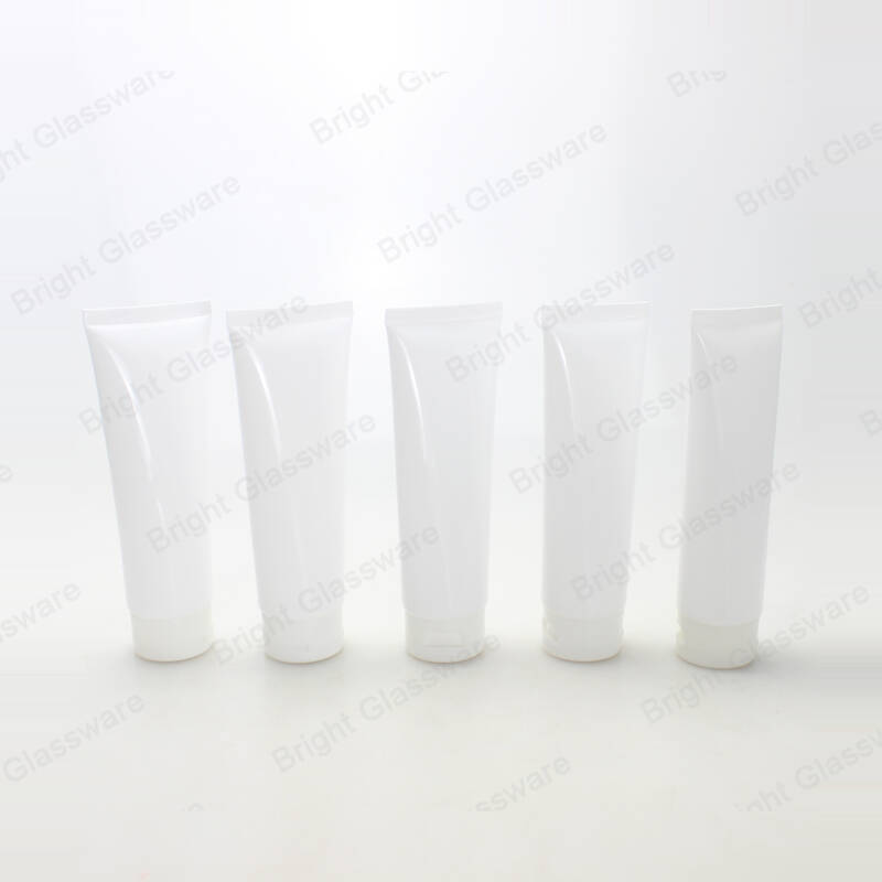 50ml 100ml plastic white cosmetic tube packaging squeeze tube