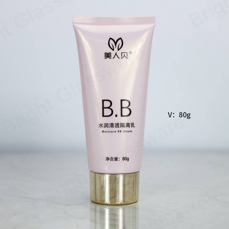 cosmetic sunscreen cream plastic soft oval BB cream packaging plastic tube