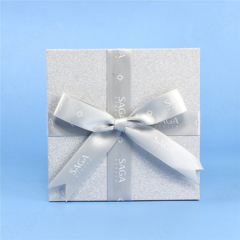 cardboard paper box merry christmas design gift boxes with ribbon