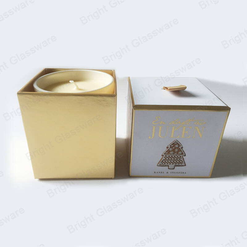 Christmas tree cardboard box custom Christmas candle box for scented candle