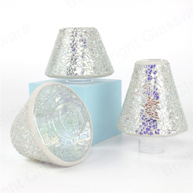 good quality blown made silver mosaic glass lamp
