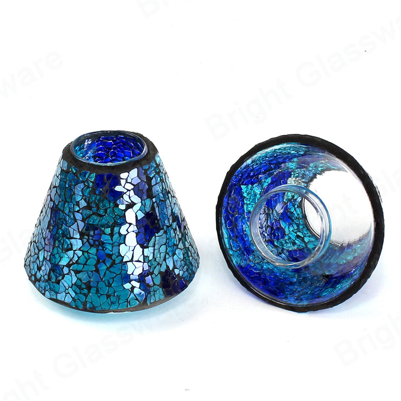 China manufacturer modern creative blue glass mosaic lamp shape for party decor