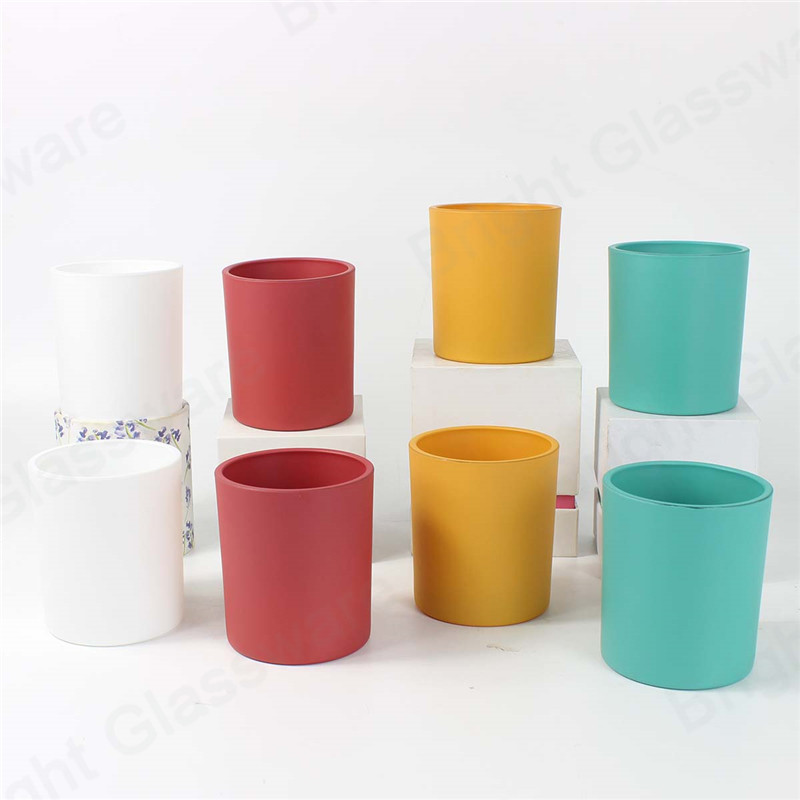custom top sale spraying colorful glass candle tumblers in bulk