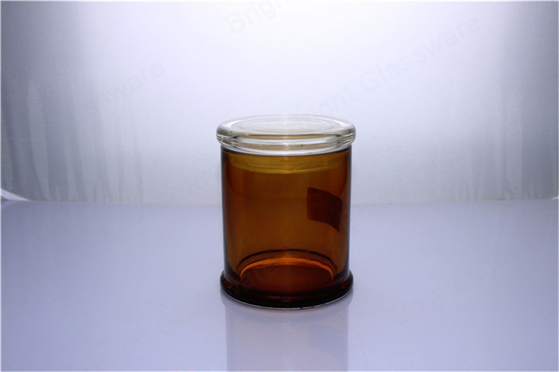 large base transparent black white amber danube glass jars with flat lid