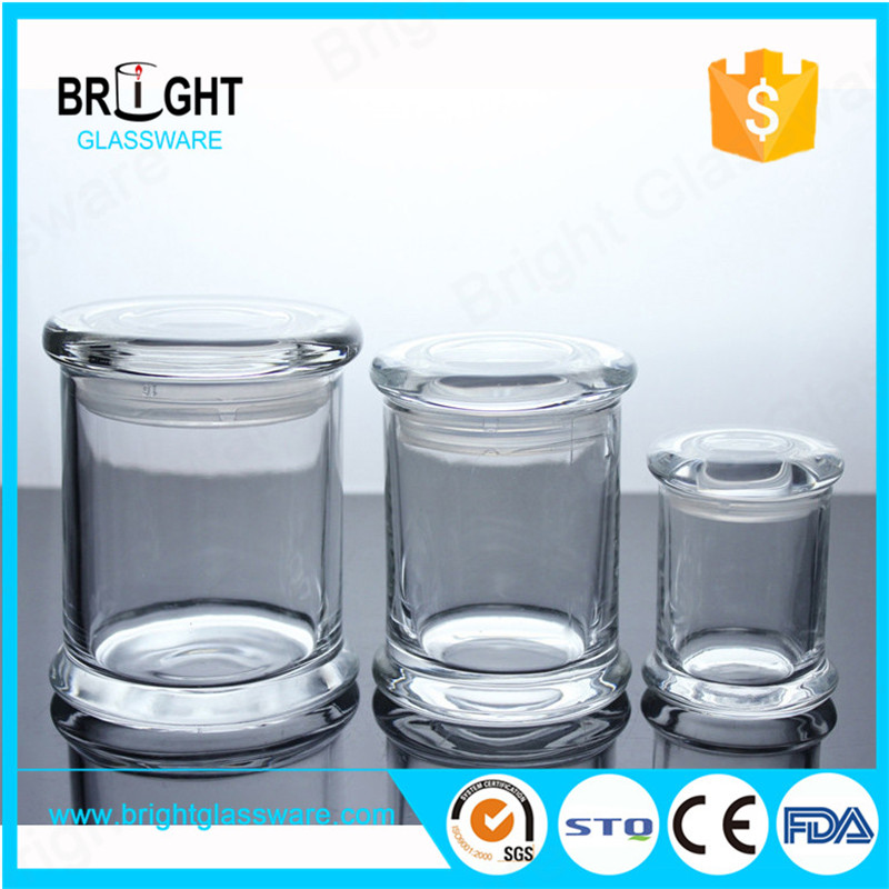 opaque white glass candela metro jars with flat lid