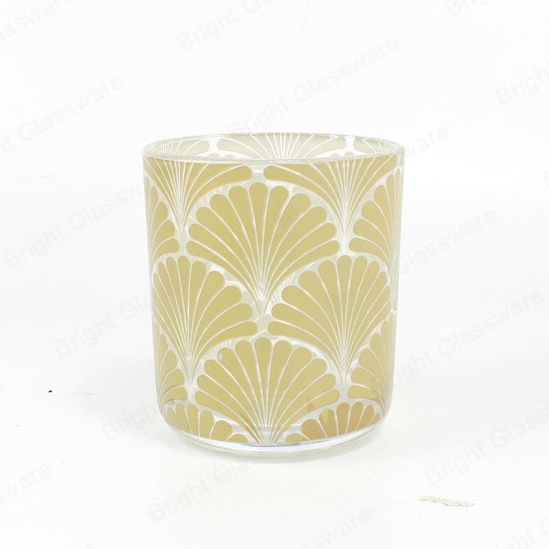 custom candle labels personalized decal printing candle holder glass