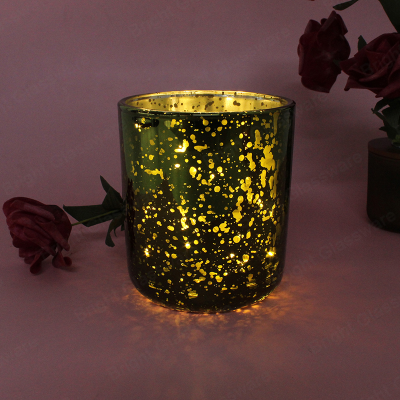 sparkle colorful silver cylinder glitter glass candle holders