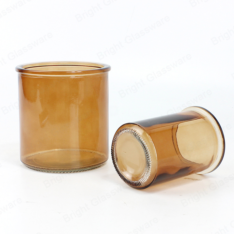 high quality empty 16 oz 8oz glass amber jar for candles