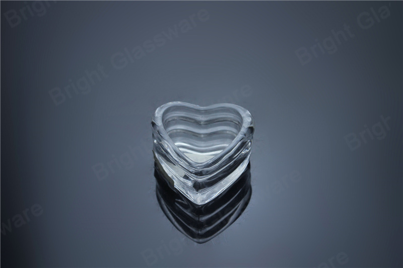 glass heart shaped tealight candle holders