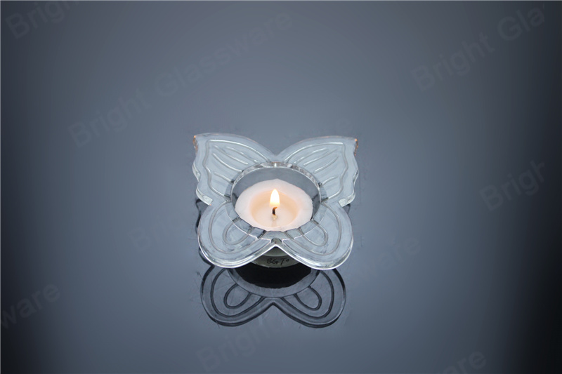 party decoration mini glass butterfly candle holder