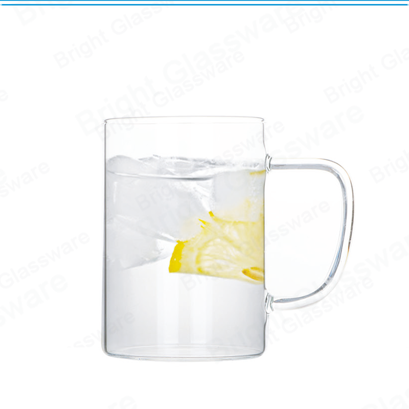 Large Capacity Pyrex Wide Mouth Glass Coffee Mug For Tea Milk Juice Latte Espresso Cappuccinos